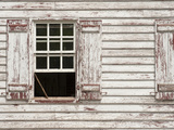 Sash Window Propped Open on a Historic House in Colonial Williamsburg