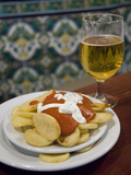 Tapas and Beer at Taberna Coloniales in Plaza Cristo De Burgos