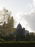 People Exercising in Piedmont Park in Midtown  Atlanta