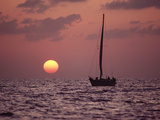 Sailboat Adrift at Sunset  Sri Lanka