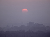 The Sun Rises over Wuhan  Capital of Hubei Province in Central China
