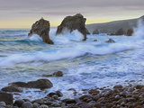 Cove and Seastacks Near Garrapata State  Beach Big Sur  California