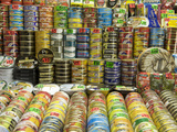 Canned Food Being Sold at Central Market  Produce Market in Former Airship Hanger from the 30&#39;s