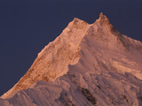 Manaslu (8 156 Meters) at Dawn  Mansiri Himal Region of the Nepalese Himalayas  Nepal