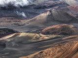 The Volcanic Landscape of Haleakala Crater in Haleakala National Park
