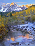 Maroon Bells and Maroon Creek  Colorado
