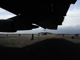 A C-17 Globemaster Viewed from under a C-5