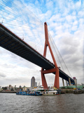 The Yangpu Bridge Connecting Puxi and Pudong in Shanghai  China