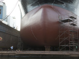 Bulb Nose of a Ship in Gdansk Dry Dock Shipyard