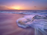 Sandy Beach at Sunset  Oahu  Hawaii