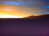 The Sunset Lights Up Sand Blowing across the Colorado Dunes