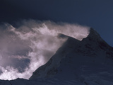 Wind-Blown Snow on Manaslu (8 156m) at Dawn  Mansiri Himal Region of the Nepalese Himalayas  Nepal