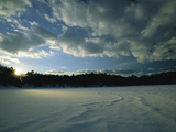 Sunset Viewed from the Frozen Surface of Walden Pond