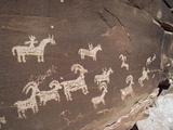 Hunting Party Petroglyphs at Wolfe Ranch  Arches National Park  Utah