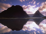 Mitre Peak at Sunset  Milford Sound  Fiordland National Park  New Zealand