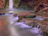 Mooney Falls Cascading into Havasu Creek  Grand Canyon National Park  Arizona