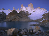 High Granite Spires  Lago De Los Tres and Cerro Fitzroy  Los Glaciares Nat&#39;l Park  Argentina