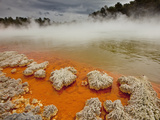 Rain Storm Approaches Champagne Pool  Wai-O-Tapu Thermal Wonderland  Rotorua  New Zealand