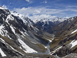 River Descends from Southern Alps to Waimakariri River  Arthur's Pass Nat'l Park  New Zealand