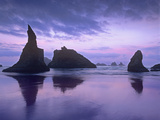 Sea Stacks at Dusk Along Bandon Beach  Oregon