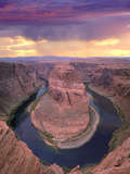 Storm Clouds over the Colorado River at Horseshoe Bend Near Page  Arizona