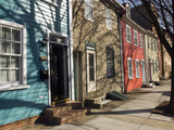 Colorful Houses on South Ann Street in the Fell&#39;s Point Neighborhood
