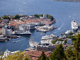 Looking Down into the Harbor in Bergen