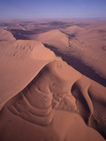 Aerial View of Star Dune Formations  Namib-Naukluft National Park  Namibia