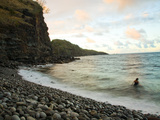 The Stone-Strewn Beach at Kahakuloa  Reached by a Narrow Cliff Road