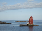 A Red Lighthouse Near Trondheim  Norway