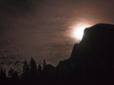 The Full Moon Silhouettes El Capitan in the Yosemite Valley