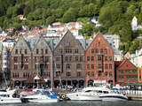 Boats Docked in the Harbor in Bergen