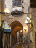 A Street in the Old Jaffa Historic District of Tel Aviv