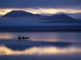 Sport Fishermen on Six Mile Lake at Dawn