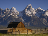Cunningham Cabin in Front of Grand Teton Range  Wyoming