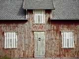 A Weathered  Once Red  Home on the Island of Vaeroya