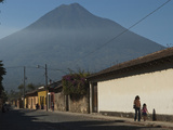 A Village at the Foot of a Volcano in Guatemala