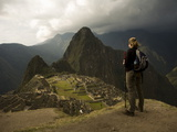 A Trekker Gazes across the Ruins of Machu Picchu to the Huayna Picchu