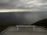 A Solitary Bench Above the Atlantic Ocean