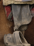 Detail of Chagra Cowboy's Leather and Wooden Stirrup  Ecuador