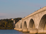 Memorial Bridge Facing Robert E Lee's House and Arlington Cemetery