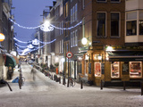 A Street Scene at Christmastime