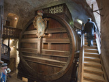 A Giant Oak Wine Barrel at Heidelberg Castle Holding 220 000 Litres