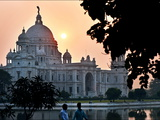 A Backlit View of the Victoria Memorial