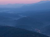 Dawn in the Great Smoky Mountains Overlooking Gatlinburg