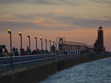 Grand Haven Pier on Lake Michigan at Twilight