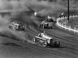 Race Cars Roar around the Track at the Iowa State Fair in 1938