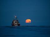 A Driftnet Boat Fishing for Sockeye Salmon in Bristol Bay