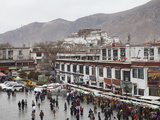 Borkhar Market with Potala Palace in the Background