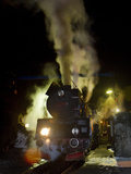 Polish State Railways Steam Locomotive after Bringing in Commuters